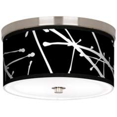 "Stacy Garcia Calligraphy Tree Black 10 1/4"" Ceiling Light"