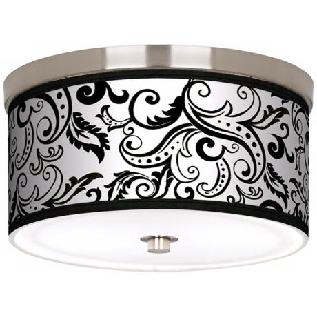 "Regency Black Nickel 10 1/4"" Wide Ceiling Light"