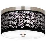 "Shimmer Nickel 10 1/4"" Wide Ceiling Light"