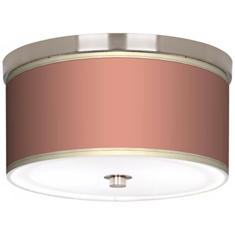 "Constant Coral Nickel 10 1/4"" Wide Ceiling Light"