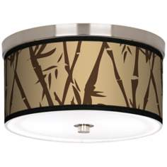 "Earth Bamboo Nickel 10 1/4"" Wide Ceiling Light"