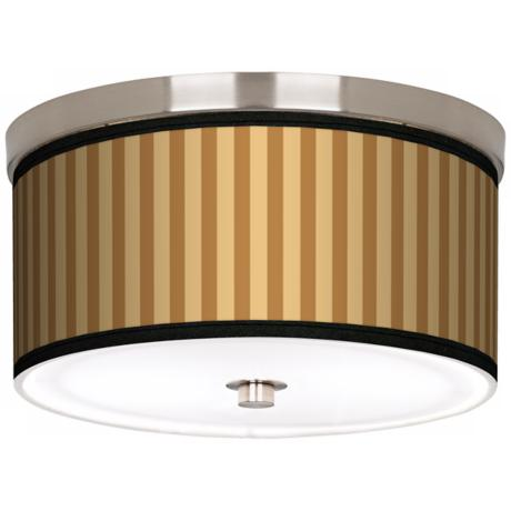 "Butterscotch Vertical Nickel 10 1/4"" Wide Ceiling Light"
