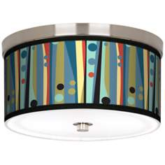 "Pastel Dots Vertical Nickel 10 1/4"" Wide Ceiling Light"