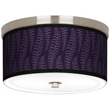 "Stacy Garcia Fancy Fern Rich Plum 10 1/4"" Wide Ceiling Light"
