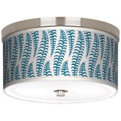 "Stacy Garcia Fancy Fern Peacock 10 1/4"" Wide Ceiling Light"