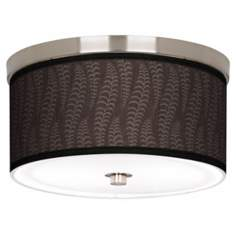 "Stacy Garcia Fancy Fern Taupe 10 1/4"" Wide Ceiling Light"