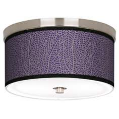 "Stacy Garcia Seafan Rich Plum 10 1/4"" Wide Ceiling Light"