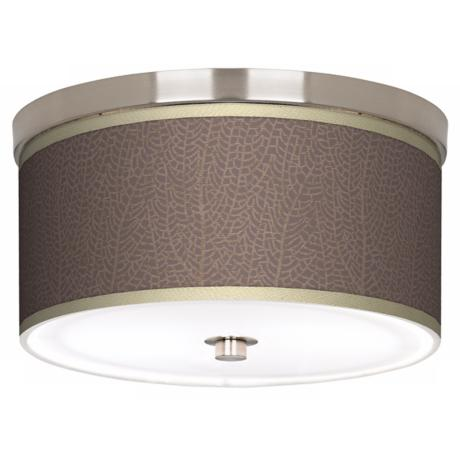 "Stacy Garcia Seafan Taupe Nickel 10 1/4"" Wide Ceiling Light"