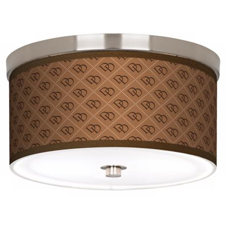 "West Bend Nickel 10 1/4"" Wide Ceiling Light"