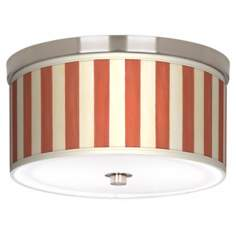 "Seaside Stripe Red 10 1/4"" Wide Ceiling Light"