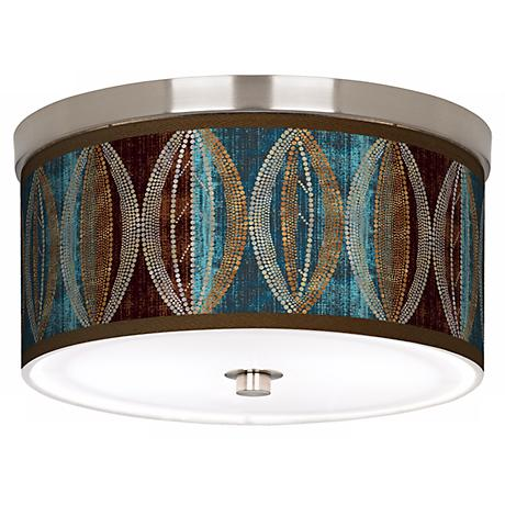 Stacy Garcia Pearl Leaf Peacock 10 1 4 Quot Wide Ceiling Light