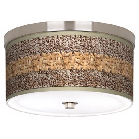 "Woven Fundamentals Nickel 10 1/4"" Wide Ceiling Light"