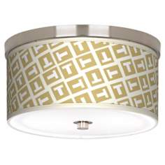 "Tee Tumble Nickel 10 1/4"" Wide Ceiling Light"