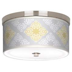 "Aster Grey Nickel 10 1/4"" Wide Ceiling Light"
