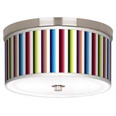 "Technocolors Nickel 10 1/4"" Wide Ceiling Light"