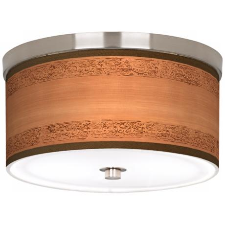 "Paisley Trim Giclee Nickel Finish 10 1/4"" Wide Ceiling Light"