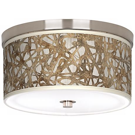 Organic Nest Giclee Nickel Energy Efficient Ceiling Light