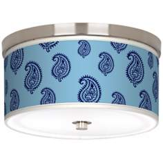 Paisley Rain Giclee Nickel Energy Efficient Ceiling Light