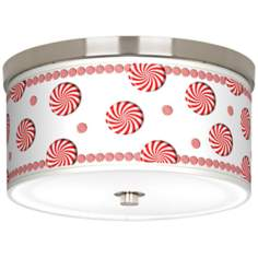 "Peppermint Pinwheels Giclee 10 1/4"" Wide Ceiling Light"
