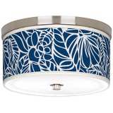 "Jungle Rain Giclee 10 1/4"" Wide Ceiling Light"