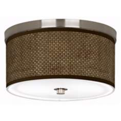 "Interweave Giclee Nickel 10 1/4"" Wide Ceiling Light"