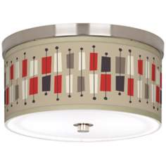 "Bounce 10 1/4"" Wide Brushed Nickel Ceiling Light"