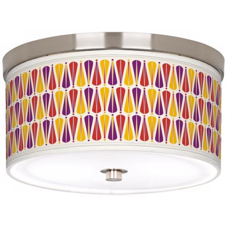"Hinder 10 1/4"" Wide Brushed Nickel Ceiling Light"