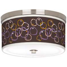"Linger 10 1/4"" Wide Brushed Nickel Ceiling Light"