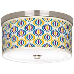 "Scatter 10 1/4"" Wide Brushed Nickel Ceiling Light"