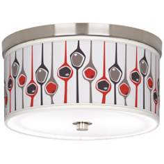 "Shutter 10 1/4"" Wide Brushed Nickel Ceiling Light"