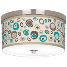"Stammer 10 1/4"" Wide Brushed Nickel Ceiling Light"