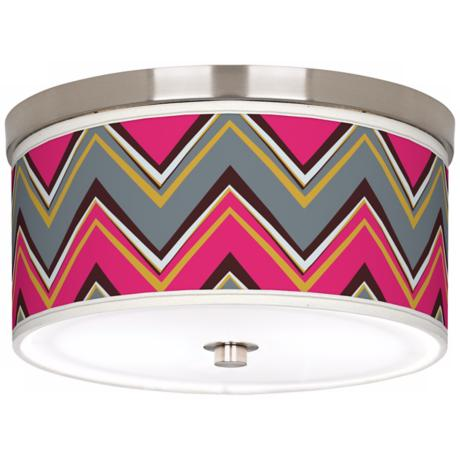 "Stacy Garcia Chevron Pride Pink 10 1/4"" Wide Ceiling Light"