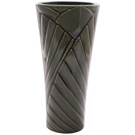 "Haeger Potteries Palm Grove 14"" High Ceramic Vase"
