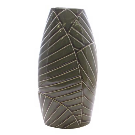 "Haeger Potteries Palm Grove 26"" Ceramic Vase"