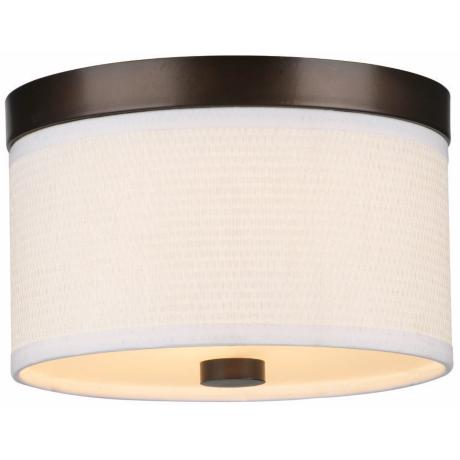 "Cassandra White and Bronze 10 1/4"" Wide Ceiling Light"