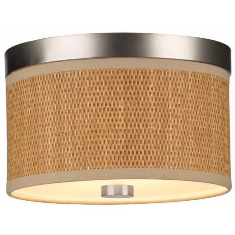 "Cassandra Natural Grass Shade 10 1/4"" Wide Ceiling Light"