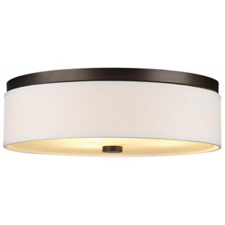 "Cassandra White and Bronze 20 1/2"" Wide Ceiling Light"