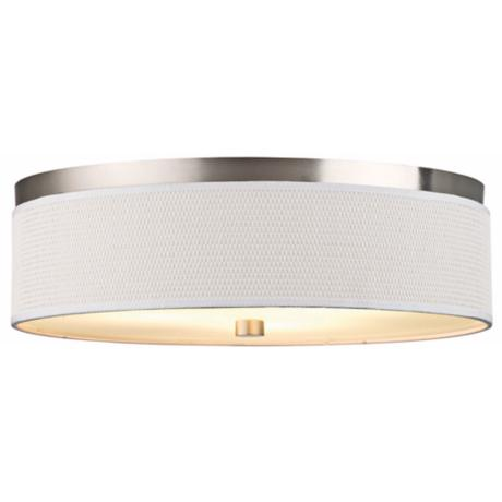"Cassandra Nickel Energy Efficient 20 1/2"" Wide Ceiling Light"