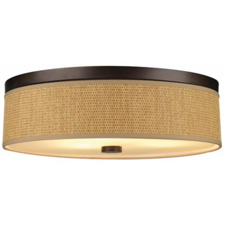 "Cassandra Bronze Energy Efficient 20 1/2"" Wide Ceiling Light"