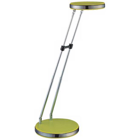 Lite Source Lime Green Flat Head LED Desk Lamp