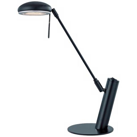 Lite Source Orbit Black Adjustable Desk Lamp