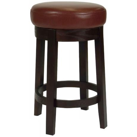 "Darcy Cinnamon 26"" High Bicast Leather Swivel Counter Stool"