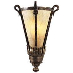 Maitland-Smith Eggshell Shade and Textured Iron Sconce