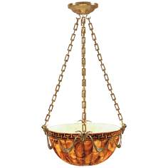 Maitland-Smith Brown Penshell Hanging Pendant Light