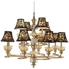 Maitland-Smith Velvet Shade Hand-Cut Crystal Chandelier