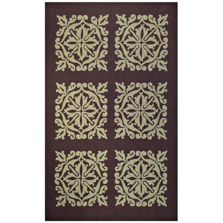 Harrington Brown Sage Handmade Indoor Outdoor Rug