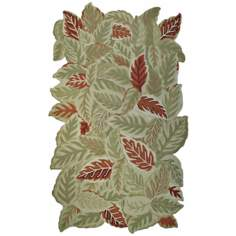September Leaves Indoor Outdoor Rug