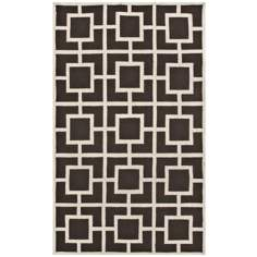 Broidery Brown Indoor Outdoor Rug