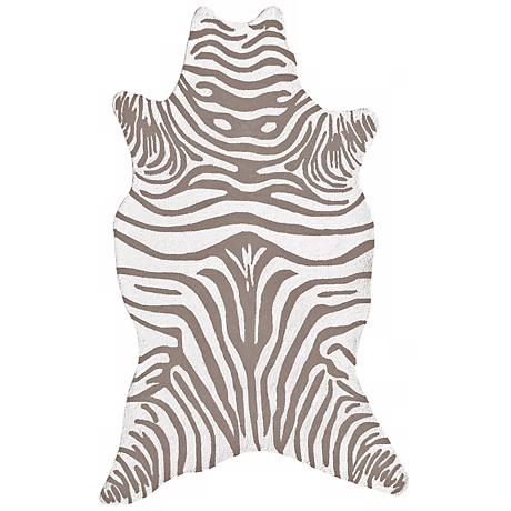 Grey Zebra Indoor-Outdoor Rug