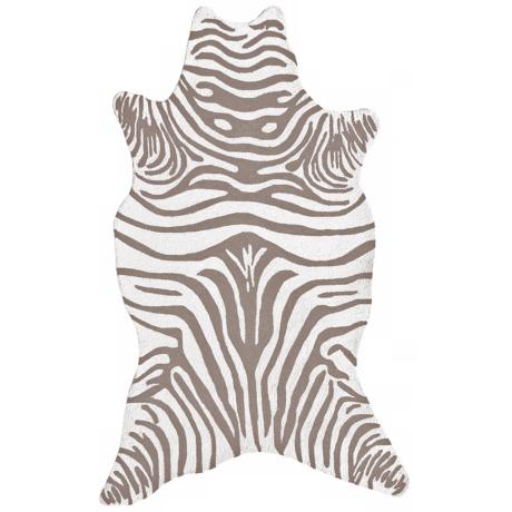 Grey Zebra Indoor Outdoor Rug